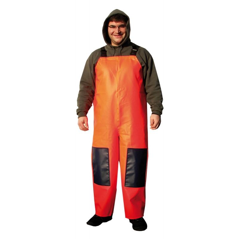 Orange Peto Hose fluoreszierend Größe L